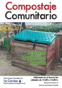 cartel compostaje comunitario